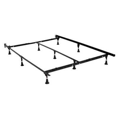 Adjustable Metal Bed Frame, Brown - Home Depot