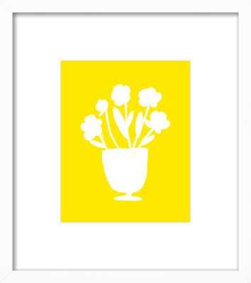 Yellow Flower Vase - Artfully Walls