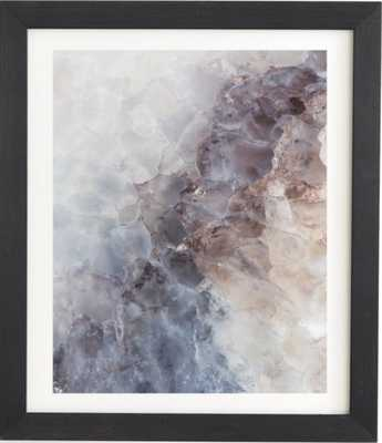 "CRYSTAL WONDERS, Framed Wall Art, 19""x22.4"", Basic Black - Wander Print Co."