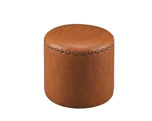 InRoom Designs Pouf in Brown - Wayfair