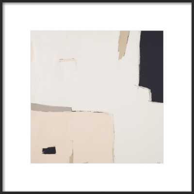 Illa Study 1 Matte Black wood Frame with Matte 16x16 framed size 20x20 - Artfully Walls