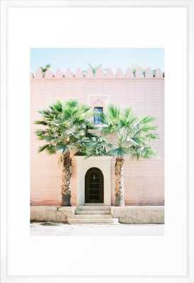 """Travel photography print """"Magical Marrakech"""" photo art made in Morocco. Pastel colored. Framed Art Print (vector white frame) - Society6"""