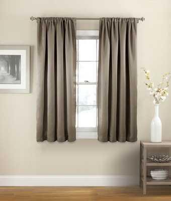 Evangelina Solid Room Darkening Thermal Rod Pocket Single Curtain Panel - Wayfair