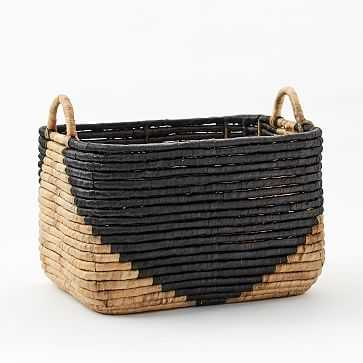 "Two-Tone Seagrass Baskets, Large Rectangle, 18.5""w x 14.2""d - West Elm"