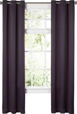 "Wayfair Basics Solid Blackout Grommet Single Curtain Panel - BLACKBERRY - 95"" L - Wayfair"