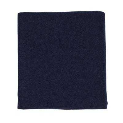 The Company Store Washable Wool Navy Throw - Home Depot
