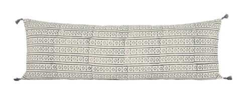Addis Lumbar Pillow, White - Lulu and Georgia
