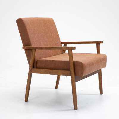 "Mccaleb 30.7"" W Faux Leather Armchair - Wayfair"