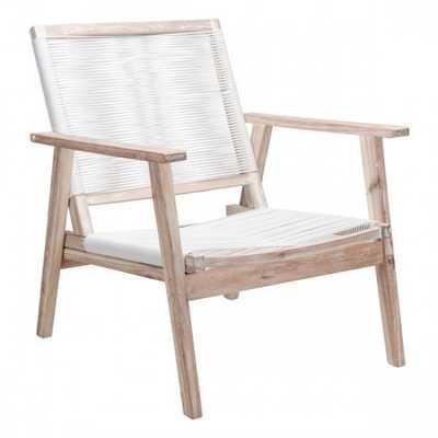 South Port Arm Chair White Wash & White - Zuri Studios