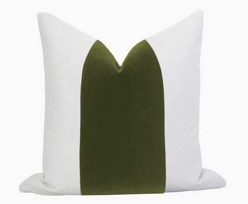 Mezzo Pillow Cover - Olive Green - Willa Skye