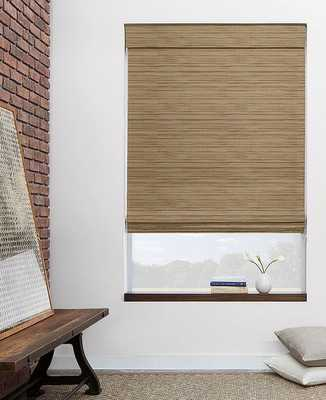 """[CUSTOM] Woven Shade - Grassweave, Linen - 46.5""""W x 76""""H - Inside Mount - Continuous Cord, Right - No Lining - The Shade Store"""