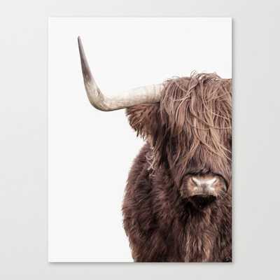 Highland Cow Portrait Canvas Print - Society6