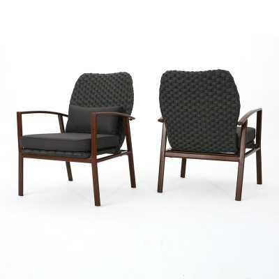 Zaanstad Outdoor Club Armchair with Cushions, set of 2 - Wayfair