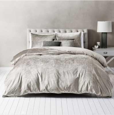 Wamsutta® Velvet King Duvet Cover Set in Stone - Bed Bath & Beyond