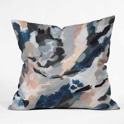 PARCHMENT ABSTRACT THREE Throw Pillow - Wander Print Co.