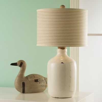 CERAMIC CRACKLE JUG TABLE LAMP - Shades of Light