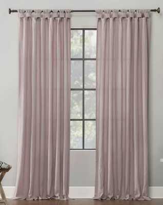 Nolan Washed Cotton Casual Solid Semi-Sheer Tab Top Single Curtain Panel - Wayfair