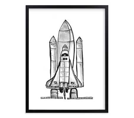 Blast Off Wall Art By Minted® - Pottery Barn Kids
