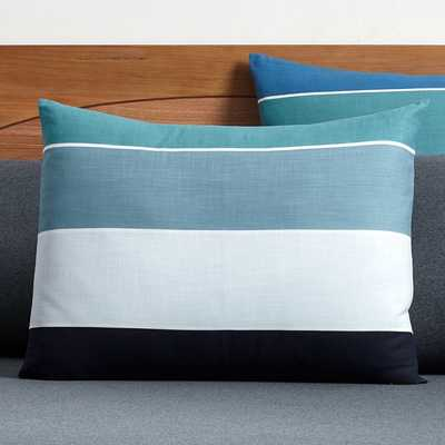 Kelly Slater Organic Tide Stripe Standard Sham, Blue Multi - Pottery Barn Teen