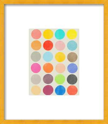 "Color Play 1 - 8x10"" - Gold Frame - Artfully Walls"