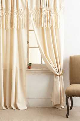 Knotted Macrame Curtain - Anthropologie