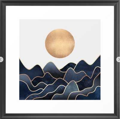 Waves Framed Art Print - Society6