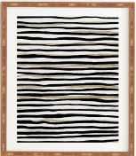 "BLACK AND GOLD STRIPES Wall Art - 11"" x 13"" - Wander Print Co."