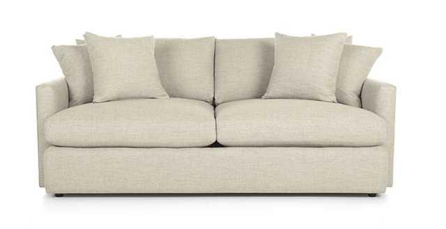 "Lounge II 83"" Sofa - Taft Cement - Crate and Barrel"