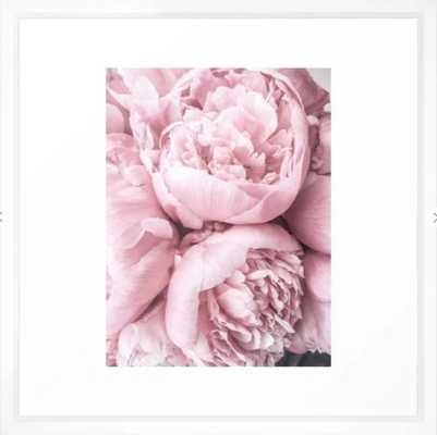 Lush Peony Flower I 22x22 framed - Society6