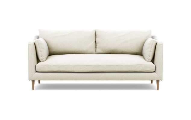Caitlin by The Everygirl Sofa in Vanilla Fabric with natural oak legs - Interior Define