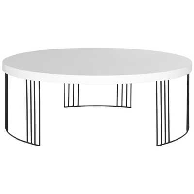 Keelin White Mid Century Scandinavian Lacquer Coffee Table - Home Depot