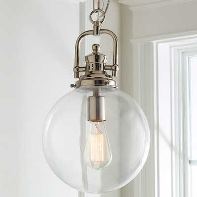Clear Glass Globe Industrial Pendant - Shades of Light