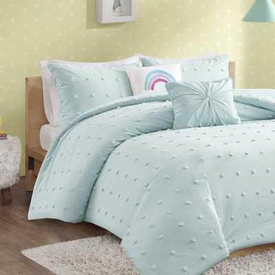 Littlehampt Cotton Jacquard Pom Pom Comforter Set - Wayfair