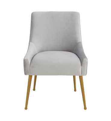 Skyler Pleated Light Morgan Velvet Side Chair - Maren Home