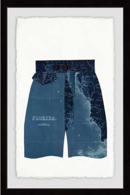 Marmont Hill Navy Shorts 16-Inch x 24-Inch Framed Wall Art - Bed Bath & Beyond