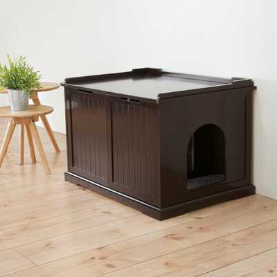 Wooden Pet House XL and Litter Box - Home Depot