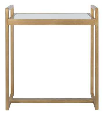 Noland Mirror Top Accent Table - Gold - Arlo Home - Arlo Home