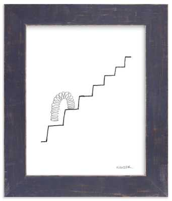 """""""slinky on the stairs"""" w/ Artist Signature - Minted"""