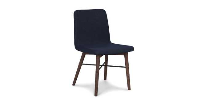 Kissa Oceano Blue Matte Walnut Dining Chair - set of 2 - Article