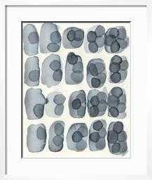 "Indigo Five, 18"" x 24"" Print with Chelsea White Frame and Bright White Mat - art.com"