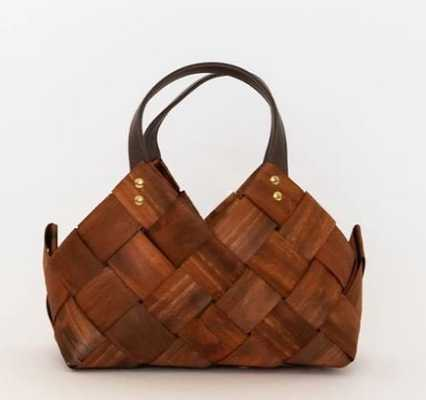 SEAGRASS & LEATHER BASKET (small) - McGee & Co.