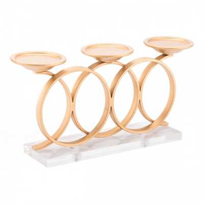 Infinity Candle Holder Gold - Zuri Studios