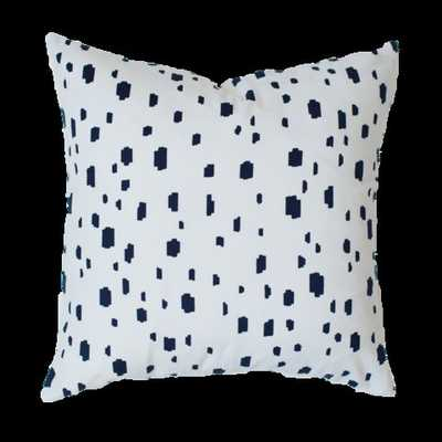 "NAVY SPOTTED PILLOW - 24"" x 24"" - Insert not included - Caitlin Wilson"