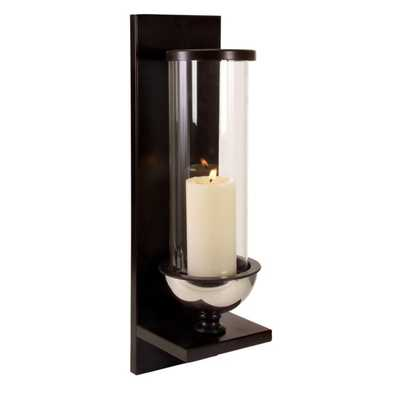 Silver Metal and Glass Wall Sconce - Mercer Collection