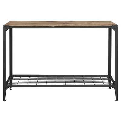 Cainsville Rustic Wood Console Table - Wayfair