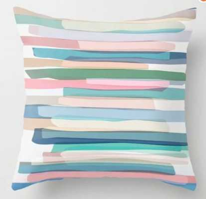 Pastel Stripes 1 Throw Pillow with insert--indoor - Society6