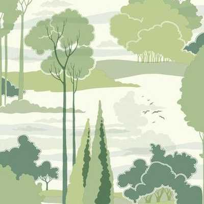 Macarthur Park Wallpaper Green - Florence Broadhurst Collection - York Wallcoverings