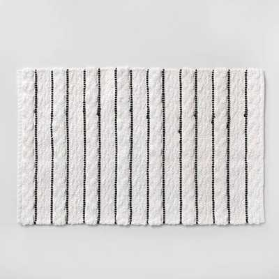 Striped Bath Rug White/Black - Opalhouse™ - Target