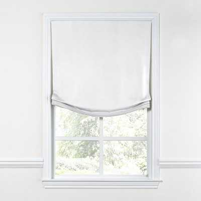 Relaxed Roman Shade  Lush Linen - Optic White (Privacy Lining) - Loom Decor
