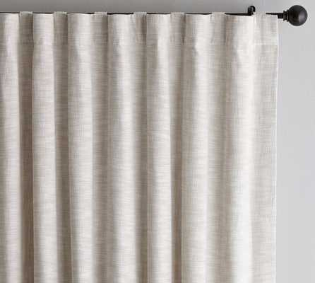 "Seaton Textured Drape, 50 x 96"", Neutral - Cotton Lining - Pottery Barn"